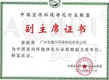 中国室内环境环境净化行业联盟副主席